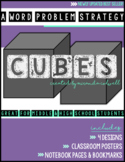 UPDATED! CUBES Word Problem Strategy Posters, Notebook Pag