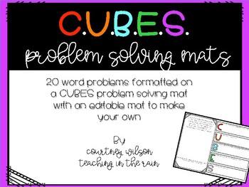 CUBES Word Problems Solving Mats
