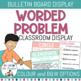 CUBES Worded Problem Posters | Math Posters
