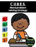 CUBES math story problem solving strategy