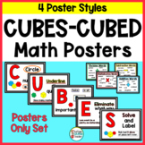 CUBES or CUBED Strategy Word Problem Posters - 4 Poster Styles