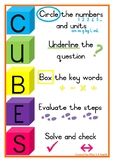 CUBES word problem poster