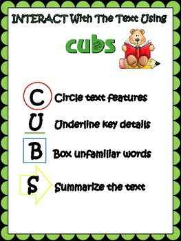 CUBS ELA poster