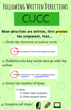 CUCC Strategy for Following Written Instructions