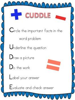 CUDDLE Word Problem Strategy