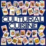 CULTURAL CUISINE- 200 A5 FOOD FLASHCARDS - food from around the world