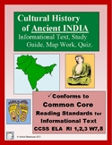 CULTURAL HISTORY of INDIA:  Informational Reading and Activities