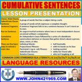 CUMULATIVE SENTENCES LESSON PRESENTATION