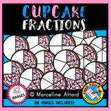 CUPCAKE FRACTIONS CLIPART (FOOD) MATH CLIP ART