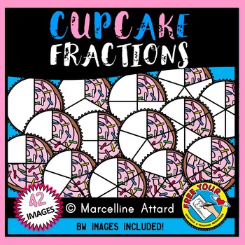 CUPCAKE FRACTIONS CLIPART: FOOD FRACTIONS CLIPART