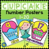 CUPCAKE Math - Ten Frame Number Posters 1 - 20