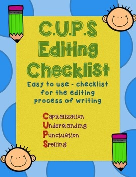 CUPS Checklist for Editing Narrative/Writing Stories