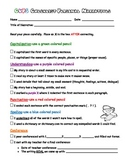 CUPS Checklist for Editing and Revising a Personal Narrative