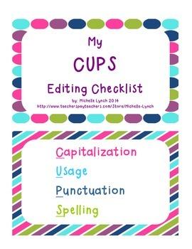 CUPS Editing Checklist - K-5