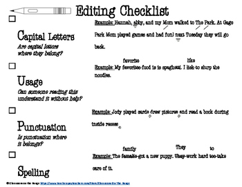 CUPS Editing Checklist With Examples
