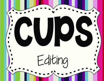 CUPS Editing Poster Freebie