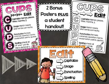 CUPS Editing Writing Posters and Handout