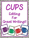 CUPS: Editing for Great Writing!!