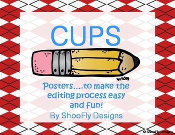 CUPS Posters for the Editing Process - Red and Bright blue