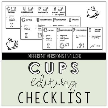 CUPS Primary Editing Checklist