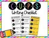 CUPS Writing Checklist