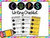 CUPS Writing Checklist
