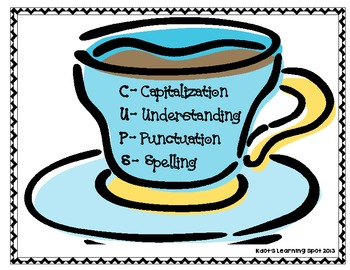 CUPS Writing Poster