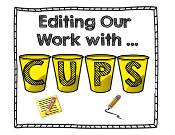 CUPS  anchor chart and checklist