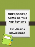 CUPS and ARMS editing and revising checklist and poster pages.