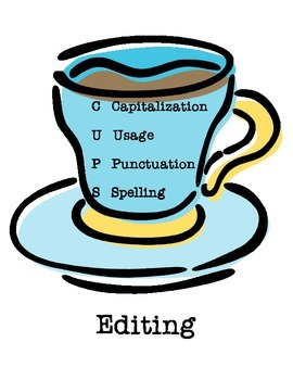 CUPS labels & poster for writing and editing