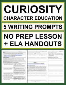 CURIOSITY Activities: 5 Writing Prompts