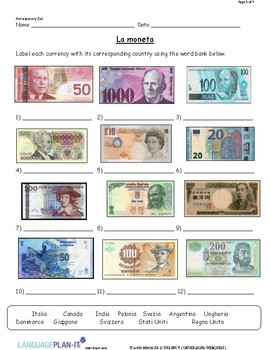 CURRENCY CONVERSION WEB QUEST (ITALIAN)