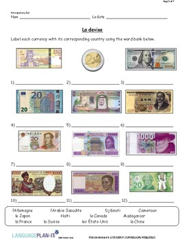 CURRENCY CONVERSIONS WEB QUEST (FRENCH)