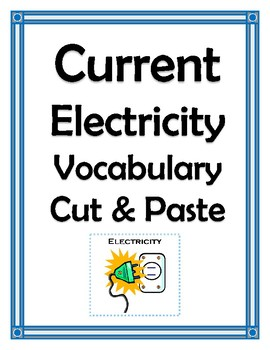 CURRENT ELECTRICITY VOCABULARY