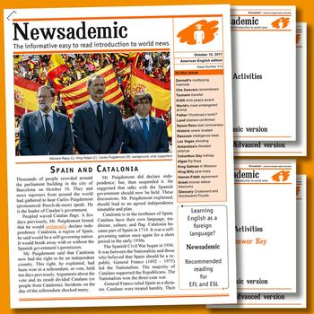 CURRENT EVENTS - Spain and Catalonia plus other international news events