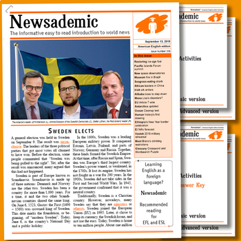 INTERNATIONAL NEWS - Sweden elects plus other current events