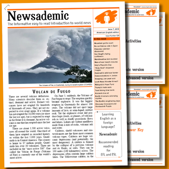 CURRENT EVENTS - Volcanic eruption in Guatemala plus other international news