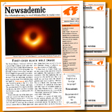 CURRENT INTERNATIONAL NEWS EVENTS - First-ever black hole image