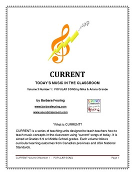 CURRENT (V3 N1) - Today's Music In The Classroom