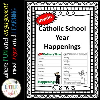 #WIDN Catholic School Year Currently Happening