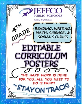 CURRICULUM POSTERS (4TH GRADE ALL SUBJECTS) 2016/17: JEFFERSON CO. COLORADO