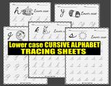 CURSIVE ALPHABET TRACING SHEETS