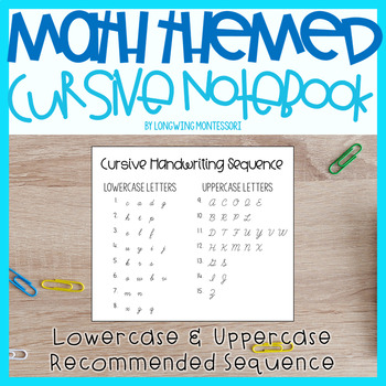 MATH THEMED CURSIVE NOTEBOOK