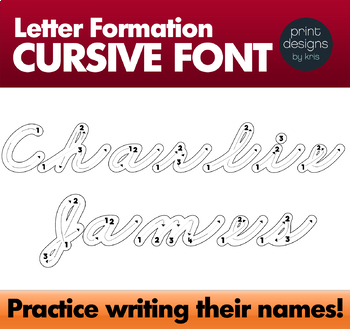 CURSIVE Letter Trace Fun Font O Formation Writing Letters