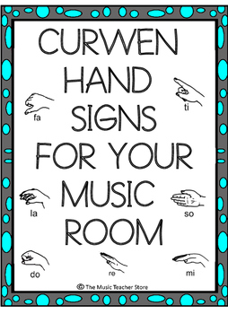 CURWEN / KODALY HAND SIGNS CLASSROOM POSTERS FOR YOUR KODA