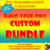 CUSTOM BUNDLE - Build Your Own - Secondary History/Social Science