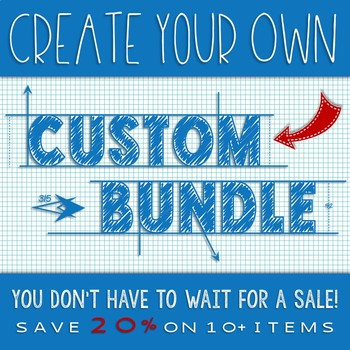 CUSTOM BUNDLE - CREATE YOUR OWN BUNDLE OF AWESOME SCIENCE AND MATH RESOURCES!