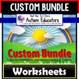 AUTISM EDUCATORS Custom BUNDLE Print and Go Resources WORK
