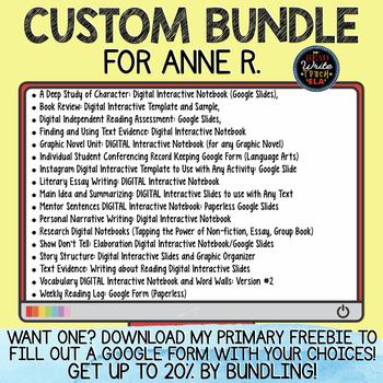 CUSTOM BUNDLE for Anne R.