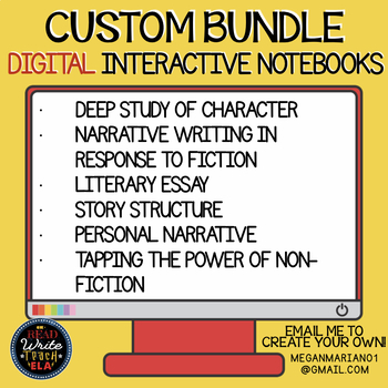 CUSTOM BUNDLE for Sarah S.: Digital Interactive Notebooks